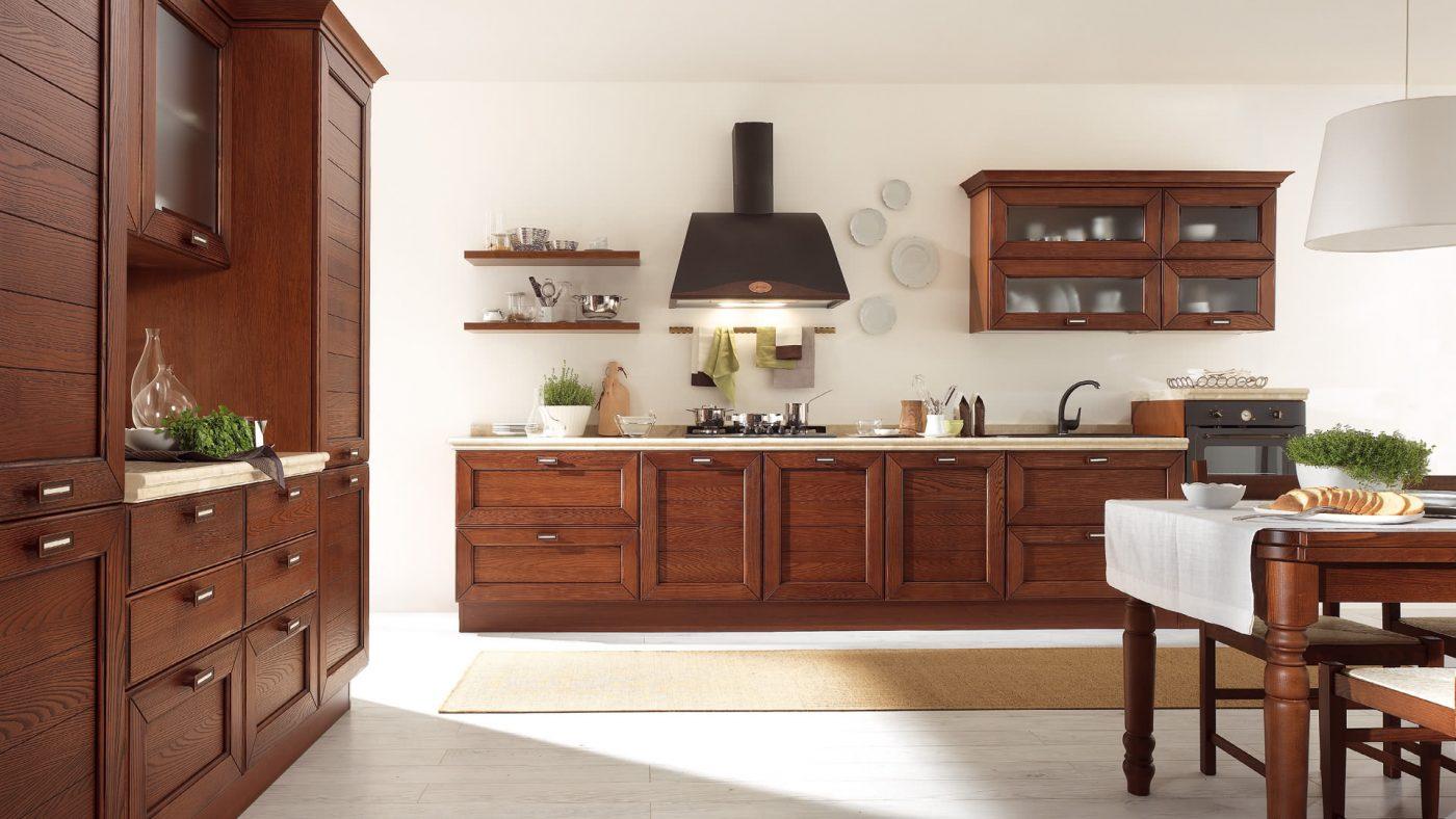 klasická kuchyňa CLAUDIA vo farbe Orech od Lube