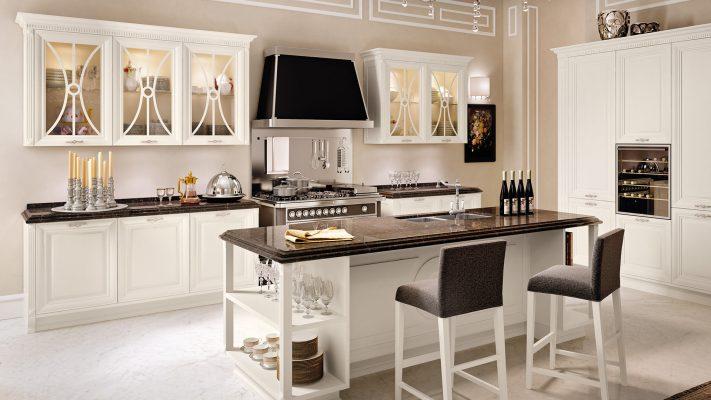 PANTHEON - luxusná zostava v krásnej bielej farbe bez patiny s čiernymi doplnkami