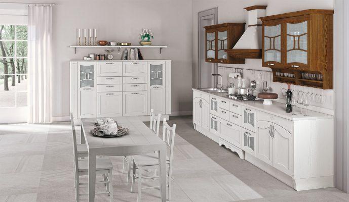 AUREA - klasická vidiecka kuchyňa v bielom prevedení