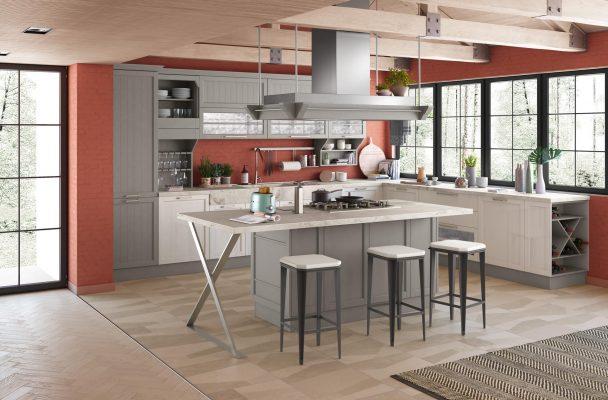 CONTEMPO - klasická vidiecka kuchyňa v kombinácii šedej a bielej farby