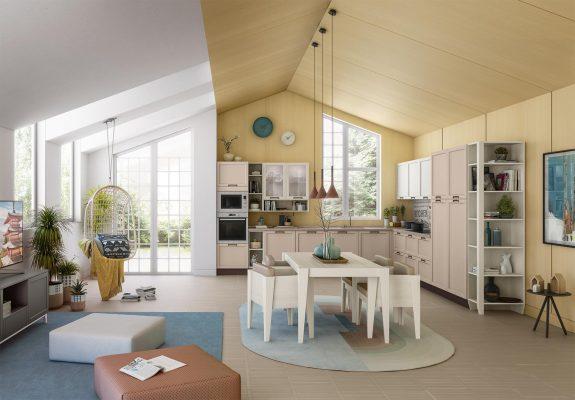 CONTEMPO - klasická vidiecka kuchyňa v prevedení dýha, morená do odtieňa Dove Gray