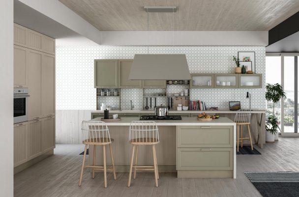 CONTEMPO - klasická kuchyňa, dvierka striekané, matné, s hladkou výplňou