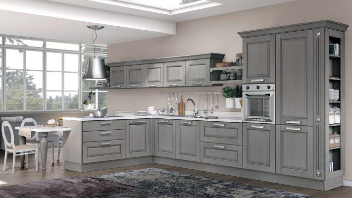 klasická vidiecka kuchyňa LAURA dvierka vo farbe Smoke Grey
