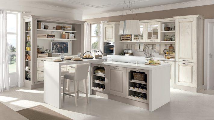 klasická vidiecka kuchyňa LAURA dvierka vo farbe Juta Grey