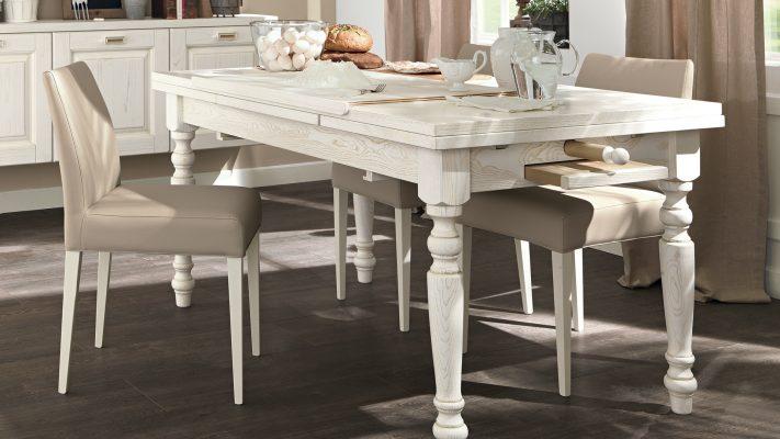 klasická vidiecka kuchyňa LAURA stôl s doplnkami