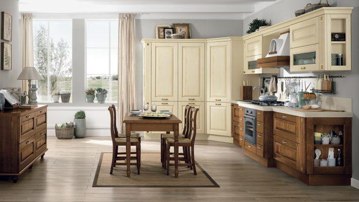 klasická vidiecka kuchyňa LAURA dvierka vo farbe Ivory a Walnut