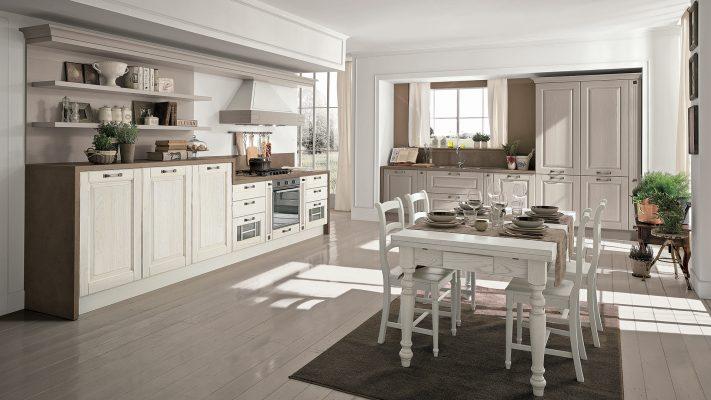klasická vidiecka kuchyňa LAURA dvierka vo farbe Pickeled White Frame