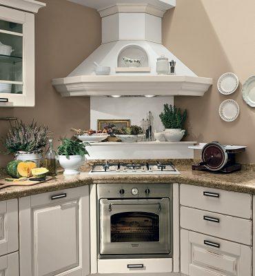 klasická vidiecka kuchyňa LAURA dvierka vo farbe Vintage Camelia White