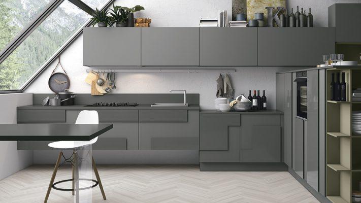 moderná kuchyňa CREATIVA od LUBE s 3D dvierkami