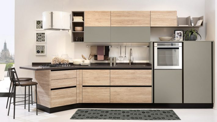 moderná kuchyňa KYRA v prevedení NECK bez úchytiek