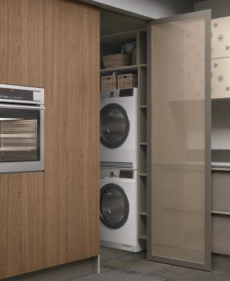 CloverBridge aj v rámci kuchyne môže byť miesto pre práčku a sušičku prádla