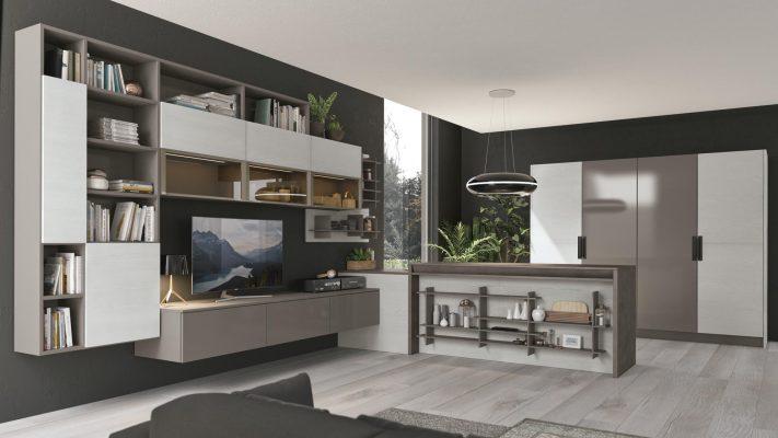 CloverBridge pohľad na obývačkovú zostavu