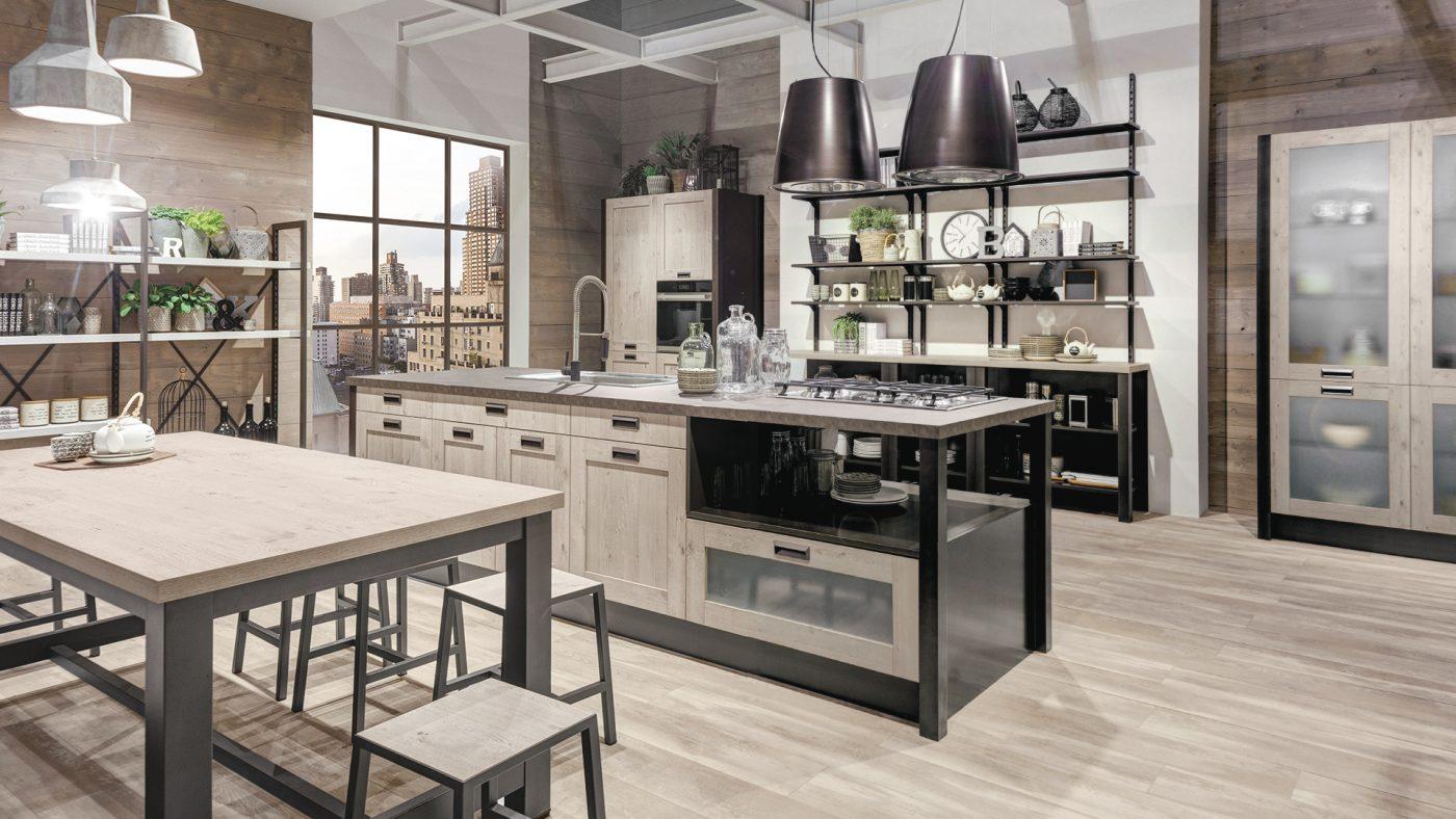 moderná kuchyňa s industriálnym nádychom KYRA FRAME od CREO kitchens