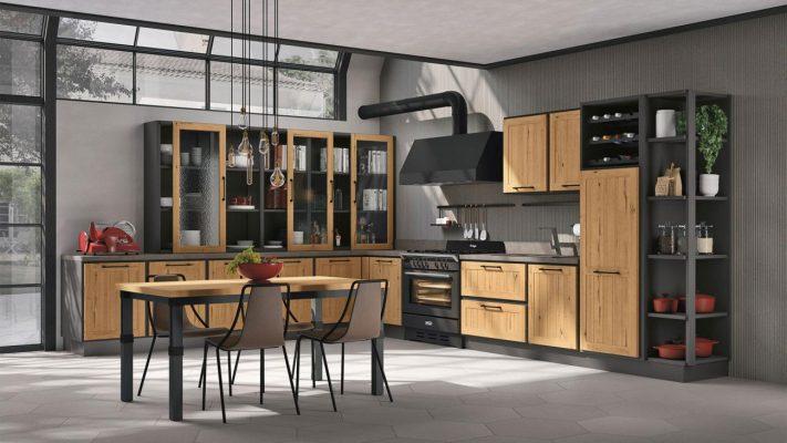 PROVENZA model kuchyne vo vintage štýle v prevedení dub prírodný
